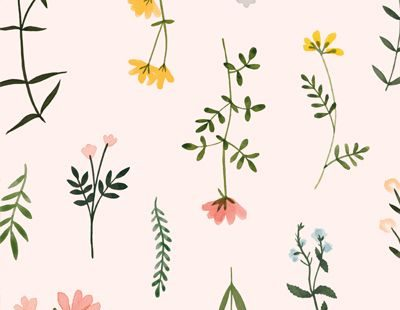 Wildflower Watercolor Floral Digital Clipart Botanical Pattern Background png flower clip art illustrations plant meadow rustic elegant - floral barn wedding DIY wildflowers printable clipart digital download #floral #frame #border #c