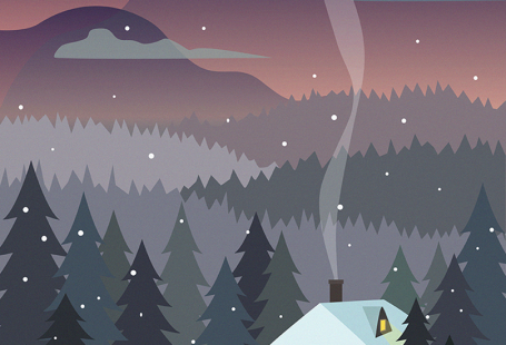 Winter forest illustration ru.pinterest.com/...