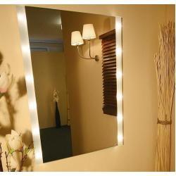 Top Light Kristallspiegel BrightLight mit seitlichem Lichtaustritt, 80 x 80cm BrightLight 12x 10 Wat