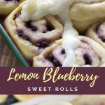 Zitronen-Blaubeer-Bonbon Rolls, #Rolls #ZitronenBlaubeerBonbon