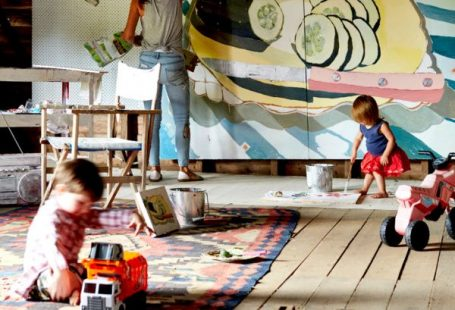 I had a studio like this when my kids were small. My first child is art.