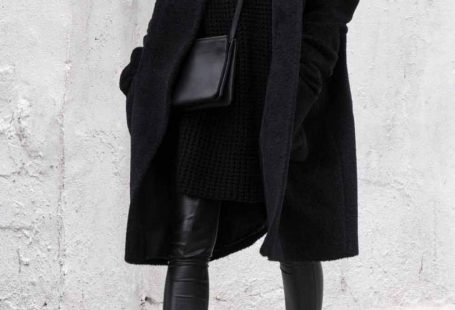 My happy place for winter wear- black over black, layered with black, and a side of black.