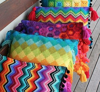 crochet cushion collection