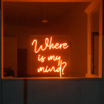 inspo benutzerdefinierte neon zitieren, Zeichen der Kunst, wo ist mein Verstand - Lichtkunst