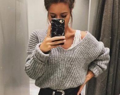 mouw gebreide losse trui,  #gebreide #losse