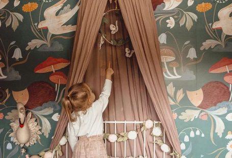 süßes Kinderzimmer im Vintage-Stil mit Baldachin #baldachin #im #Kinderzimmer #mit #Süßes