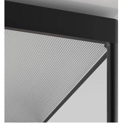 serien.lighting Reflex² Ceiling M 600 Deckenleuchte schwarz Reflektor Pyramidenstruktur silber Dali