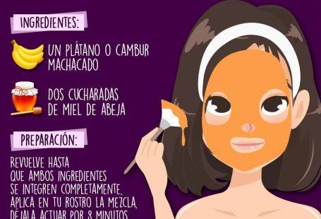 Despídete de los poros abiertos utilizando un poco de miel y un plátano ������   #tips #belleza #chicas #girls #beauty