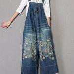 Buy affordable & high quality pattern knitted womens blue denim overalls created from 100% cotton. The wide-leg fits baggy overalls are carefully crafted.
