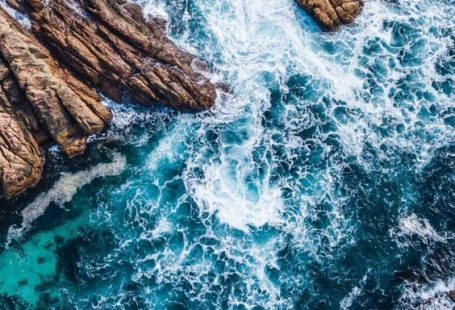 Coast, Channel, Sea Waves, Rocks, Aerial View, 720x1280 Wallpaper