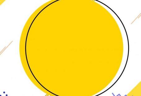 Creative minimalist yellow round memphis background
