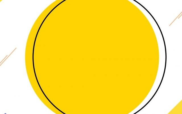 Creative minimalist yellow round memphis background
