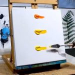 I inspired from this acrylic painting idea. Easy for acrylic painting beginners!