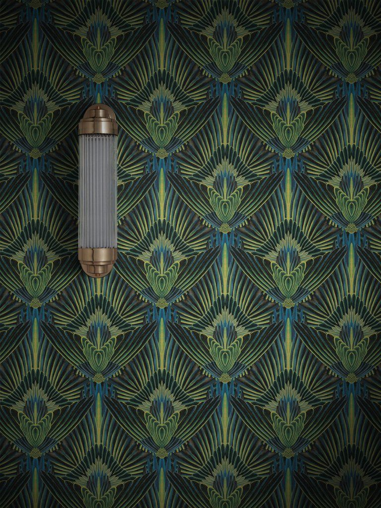 Gershwing. A decadent, feathered, Art Deco influenced print, will bring unapologetic glamour and depth to any interior. A classic, refreshed. Gershwing has a luxurious pearlised sheen to give a subtle exuberance to your room, and this design is available in a confident colour palette to create your own bold new look. Choose from Parakeet, Raven, Dove, Flamingo, Macaw, and Blue Jay. Order a sample • Print method: Digital • Hanging method: Paste the wall - no decorating table or pre-cutting ...