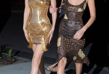 Gigi And Bella Dazzle In Gold And Leopard Print Party Dresses At Birthday Bash In New York- ellemag