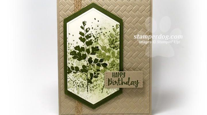 Making a Leafy Background • Stampin