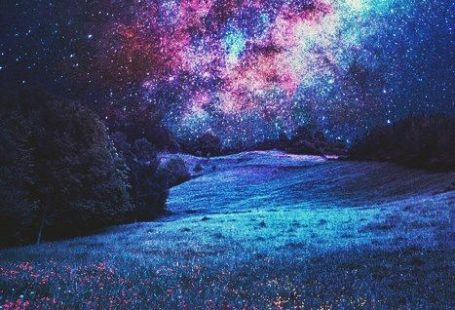 Cascading stars from blue skies