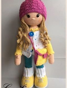 Free pattern. Pretty doll crochet. Amigurumi