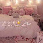 Pink Bedroom with Star Lights - #adolescente #Bedroom #lights #pink #Star