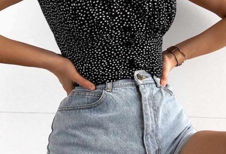 Polka Dot Puff Sleeve Bardot Crop Top Black -  Les tendances delaware la saison automne-hiver 2019-2... - #bardot #black #delaware #polka #saison