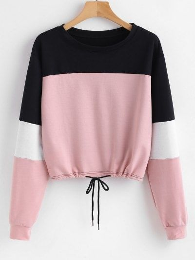 Pullover Color Block Sweatshirt