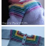 After The Storm Rainbow Cardigan Free Knitting Pattern #freeknittingpattern #knittingpattern #babysweaterfreepattern