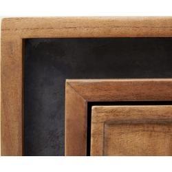 Delife Design-Sideboard Stonegrace 147 cm Akazie Natur 2 Türen, Sideboards DeLifeDeLife