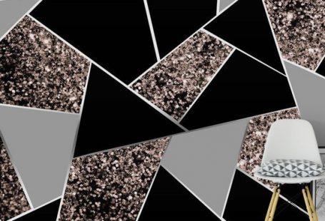 Rose Gold Geometric Glitter 1 Wallpaper from Happywall.com