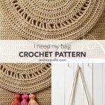 This stylish crochet shoulder bag with colourful tassels will look great in any summer outfit! #Anchorcrafts #Anchorthreads #Anchorcrochet#AnchorCreativa  #AnchorCreati