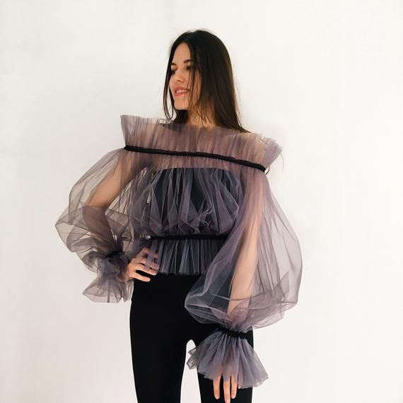 🖤With this unique off shoulder tulle crop top you will be the most beautiful girl. Perfect for event Hand wash in cold water One size. Your measurements welcomed: bust and waist. Please write in notes upon ordering 🖤Please choose color of this top (2,3 pic) and color of rubber! (On the pics color