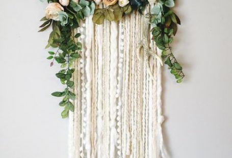 Wall Hanging Floral Wall Hanging Flower Wall by BlairBaileyDesign