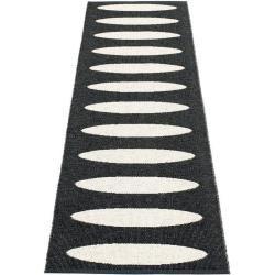 pappelina Ella Outdoor-Teppich - schwarz / vanille 70 x 225cm PappelinaPappelina