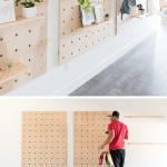 Giant Wooden Peg Board DIY