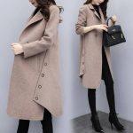 2019 New Autumn Winter Coat Women Wool Blend Cardigan Jacket Coat Oversize Fashion Long Coat Outwear Wool Female Coat Clothing - Sky blue XXL