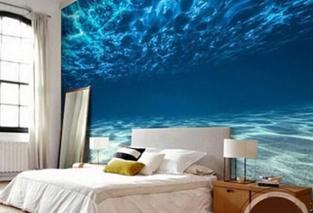 3D Underwater Deep Sea Wallpaper for Walls Wall Mural