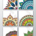 6 vector ethnic floral patterns. #pikbest #background #design #free #download