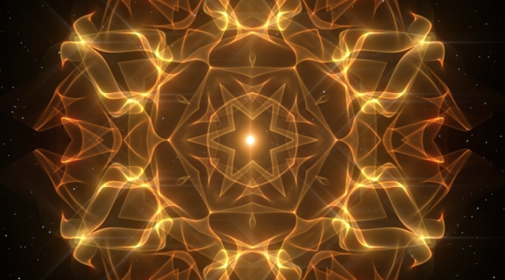 A slow evolving #mandala of golden light. Deeply #relaxing and ideal for #mindfulness