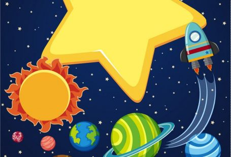 Background scene with rocket and planets in space illustration. Download a Free Preview or High Quality Adobe Illustrator Ai, EPS, PDF and High Resolution JPEG versions. ID #18390007.
