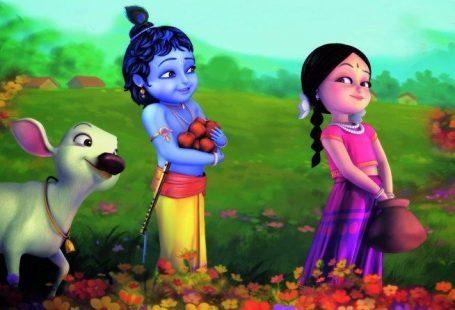 little_radha_Bal krishna Cute Animated Movies Beautiful HD WallPaper Images Photos
