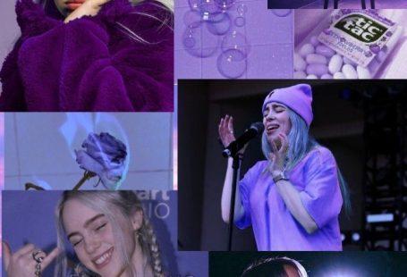 Billie Eilish Tumblr inspiriert lila Tapete Billie Eilish tumblr inspired purple... - #Billie #Eilish #Inspired #inspiriert #lila