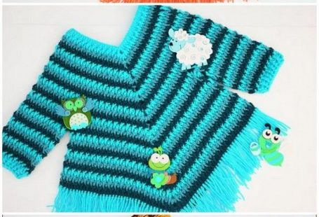 Now check out this Crochet Baby Dress Patterns that look so cute in the picture and also very easy to design. Only you will be needed orange and brown wool or yarn to complete this project. How cute and lovely images are also made on this beautiful baby dress that is making it more attractive and eye-catchy. There are two more designs and colors available for this baby dress below. So just get the pattern fast and learn how to make it with few supplies of yarns. #croc