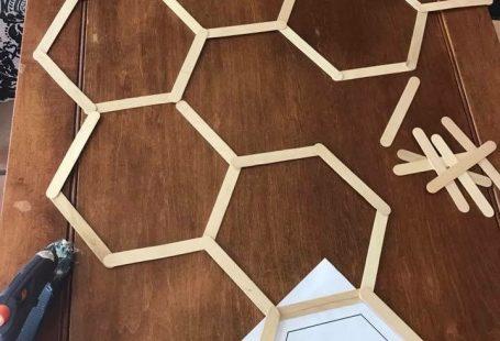 DIY Hexagon Photo Backdrop