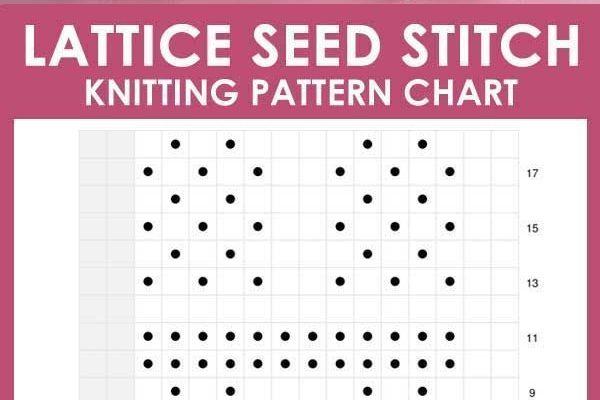 Das Lattice Seed Stitch Pattern erzeugt ein breites, geflochtenes Muster ... , #breites #erzeugt #geflochtenes #lattice #muster