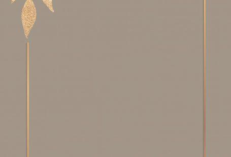 Christmas golden rectangle frame on brown background vector
