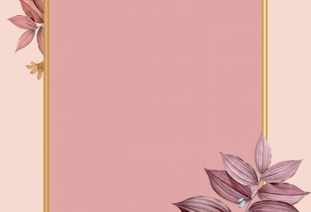 Rectangle foliage frame on peach background vector