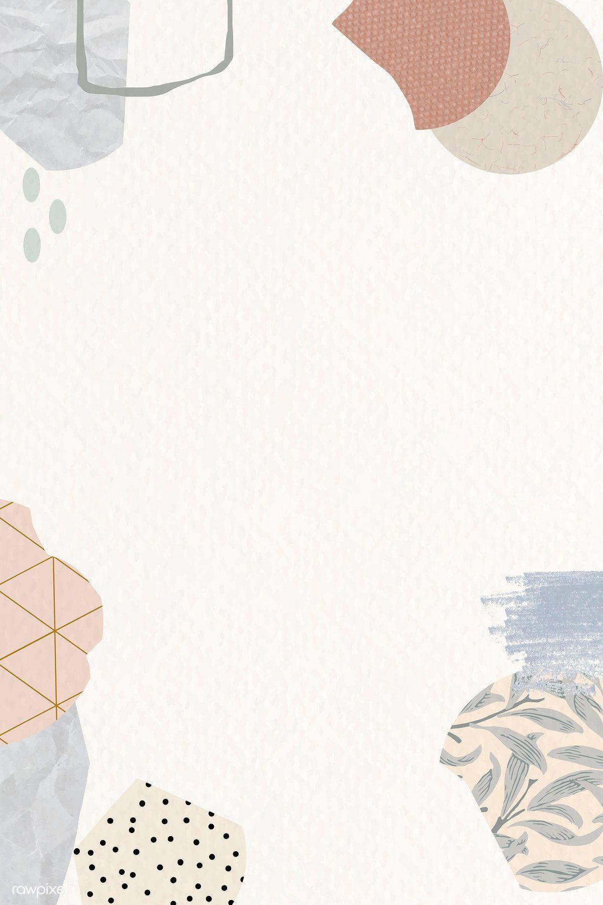 Terrazzo pattern on beige background vector | premium image by rawpixel.com / nunny #vector #vectoart #digitalpainting #digitalartist