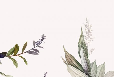 Tropical botanical leaves background vector