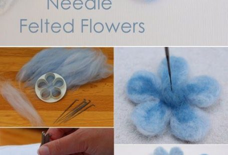 Easy Needle Felted Flowers by Craft me Happy! How to make