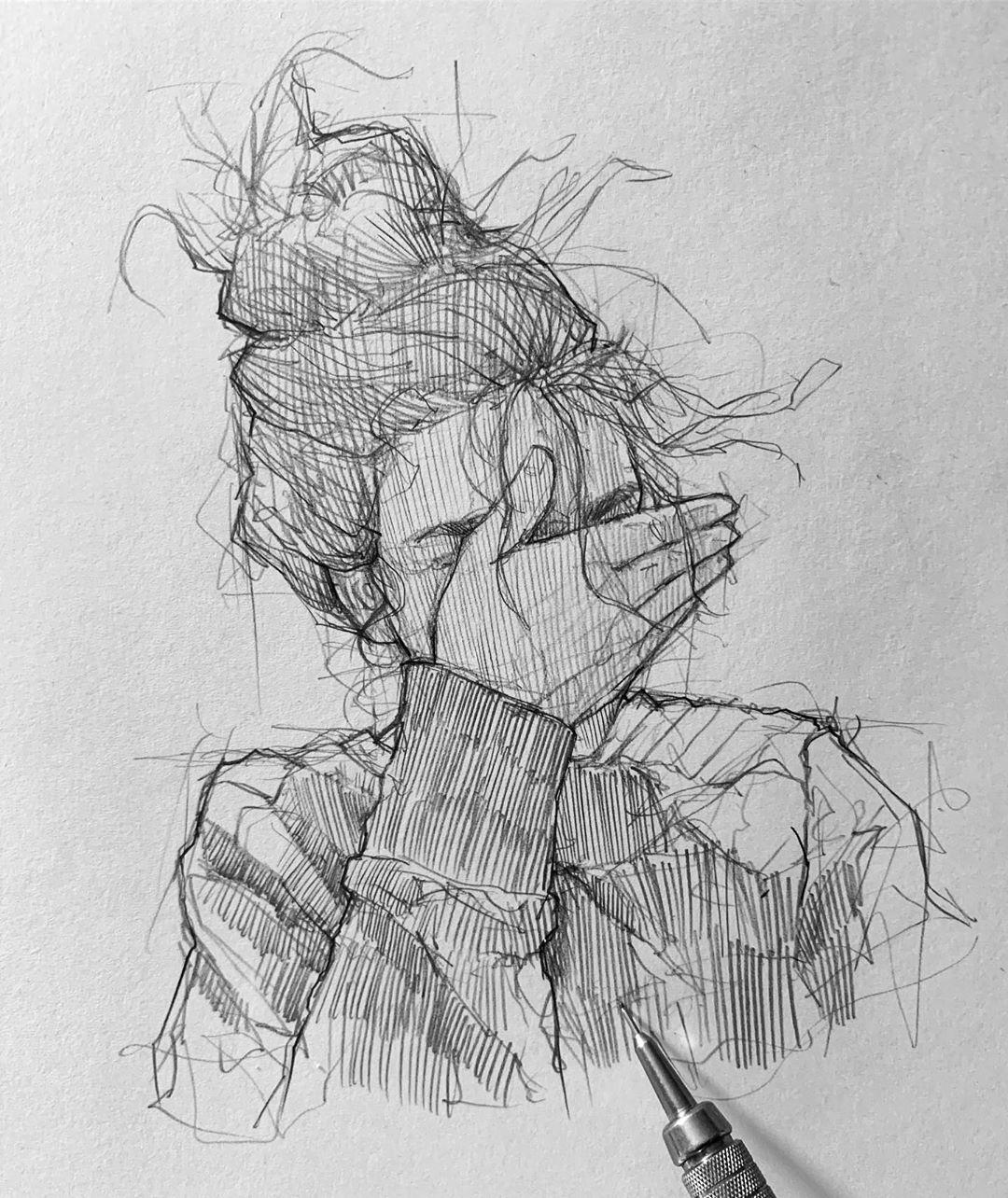 Efrain Malo в Instagram: «When u can't draw eyes 😅 #maloart #sketching #graphgear500»