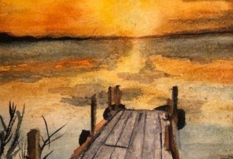 Einfache Aquarell-Landschaftsmalerei-Ideen #watercolorarts, #AquarellLandschaftsmalereiIdeen #einfache #watercolorarts